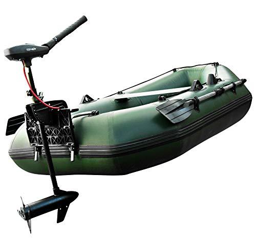 Prowake Schlauchboot mit Motor: Setangebot Angelboot Luftboden IBA 250cm mit Elektromotor PSM30