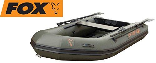 Fox FX 240 Inflatable Boat 2,40m - Angel Schlauchboot zum Karpfenangeln, Boot zum Wallerangeln, Angelboot zum Spinnfischen