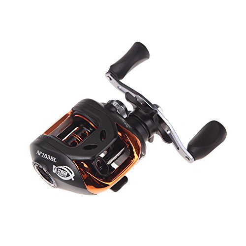 Docooler AF103 10 + 1BB Kugellager linke Bait Casting Angelrolle High Speed 6.3: 1 Schwarz