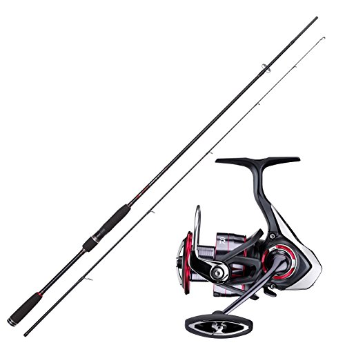 Drop Shot Angelset Jackson Drop Shot Rute 2,13m mit Daiwa Angelrolle Combo