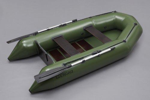 Bengar Schlauchboot Ruderboot Set L-280 U Lotus 280 U, ideal geeignet als Angelboot in dunkelgrün