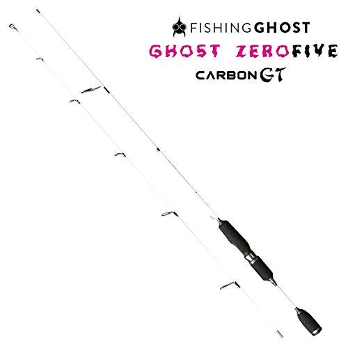 FISHINGGHOST Zero Five Carbon GT Ultralight Angelrute, 180cm, Wurfgewicht 1-5 Gramm - Spinnrute - Steckrute, Ultralight, solid Tip, voll parabolisch - extrem biegsam - direkte Kraftübertragung