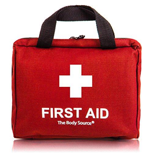 90-teiliges Premium Erste-Hilfe-Set - enthält Sofort Kühlpacks, Augenspülung, Rettungsdecke für zu Hause, Büro oder Auto | Rot