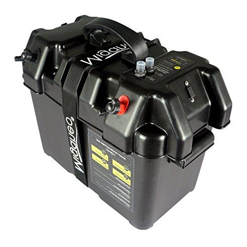 Miganeo Batteriebox für Bootsmotor Elektromotor Schlauchboot Aussenboarder