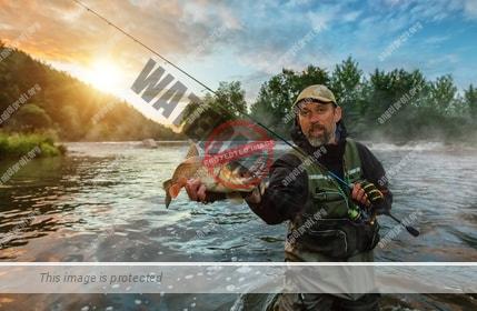 Fischfang durch den einsatz eines speziellen Angelköders
